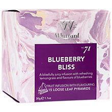 Buy Whittard Blueberry Bliss Tea Bags, 30g Online at johnlewis.com