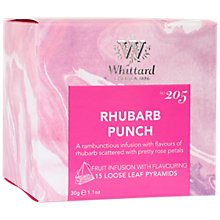 Buy Whittard Rhubarb Punch Tea Bags, 30g Online at johnlewis.com