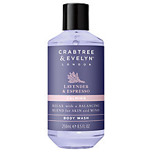 Buy Crabtree & Evelyn Lavender & Espresso Calming Body Wash, 250ml Online at johnlewis.com