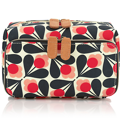Orla Kiely Fuschia Sycamore Seed Medium Wash Bag, Pink