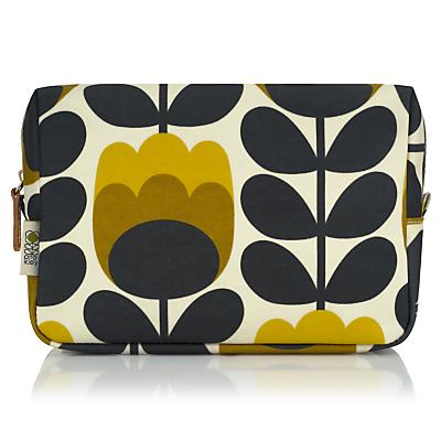Orla Kiely Dandelion Tulip Large Cosmetic Bag, Yellow