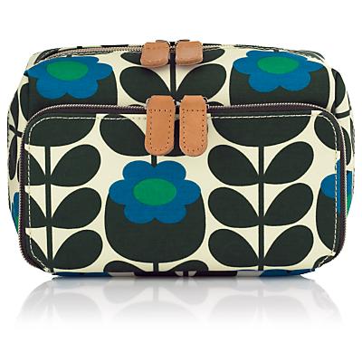 Orla Kiely Primrose Jade Medium Cosmetic Bag, Blue