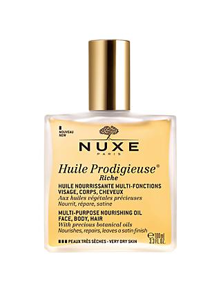 NUXE Huile Prodigieuse® Riche Multi-Purpose Nourishing Oil Spray Bottle, 100ml