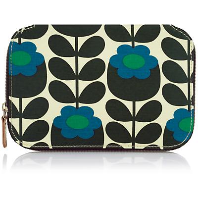 Orla Kiely Primrose Jade Cosmetic Bag, Blue