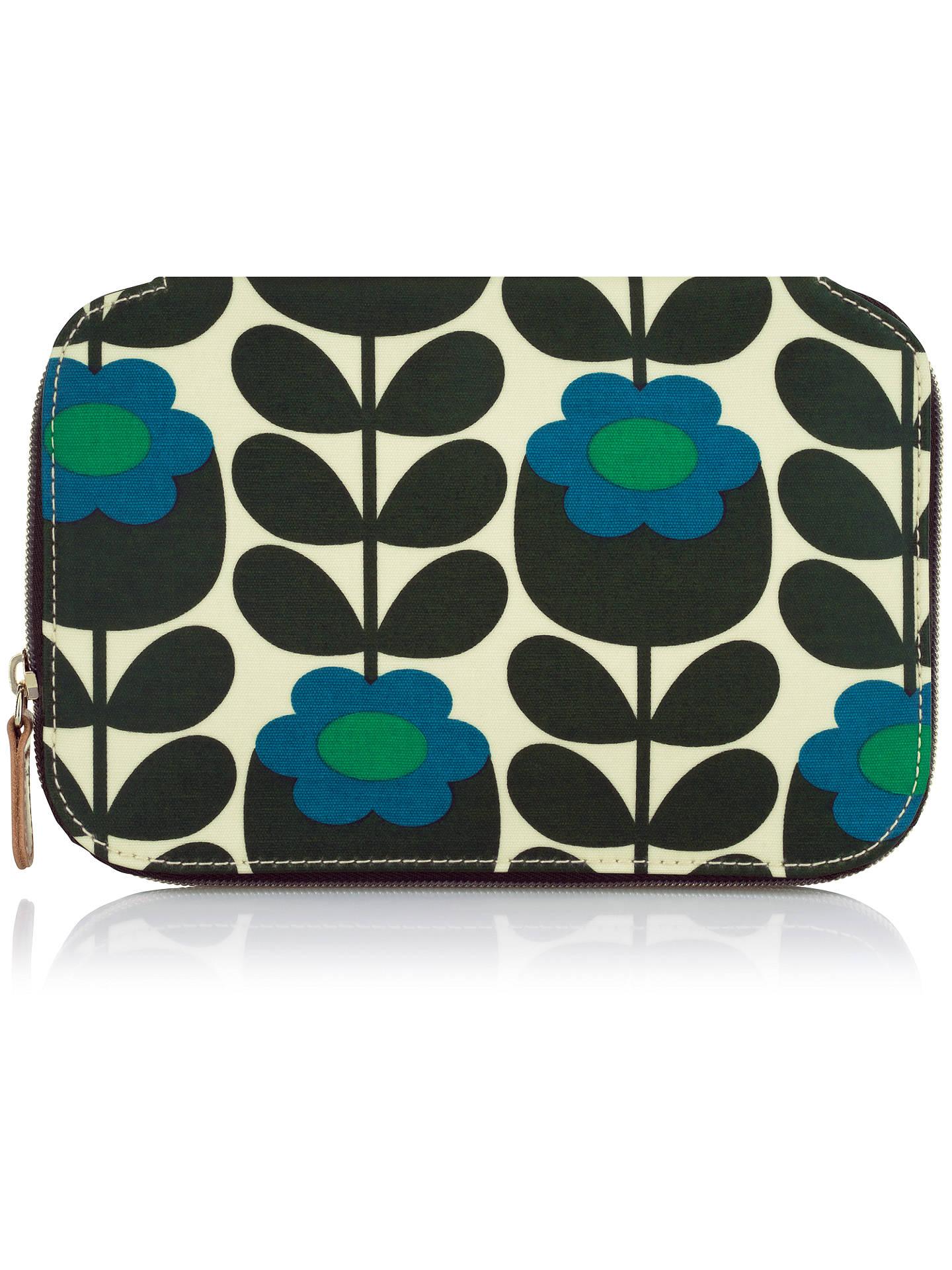 Orla Kiely Primrose Jade Cosmetic Bag Blue At John Lewis