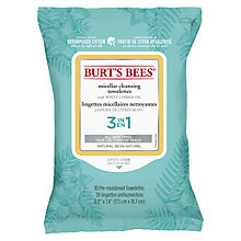 Buy Burt's Bees Micellar Cleansing Wipes, x 30 Online at johnlewis.com