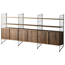 Buy string Triple Cabinet with Shelves, Floor Fastened, Walnut / Black Online at johnlewis.com