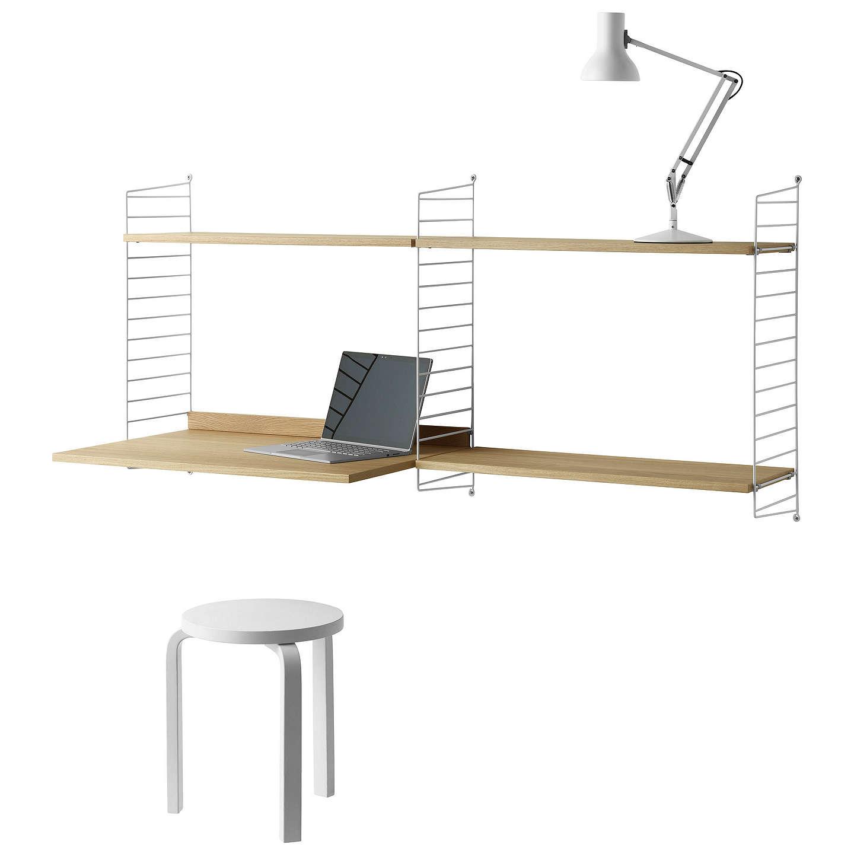 home shelves shop oak straight buy desk furniture luiz office corner