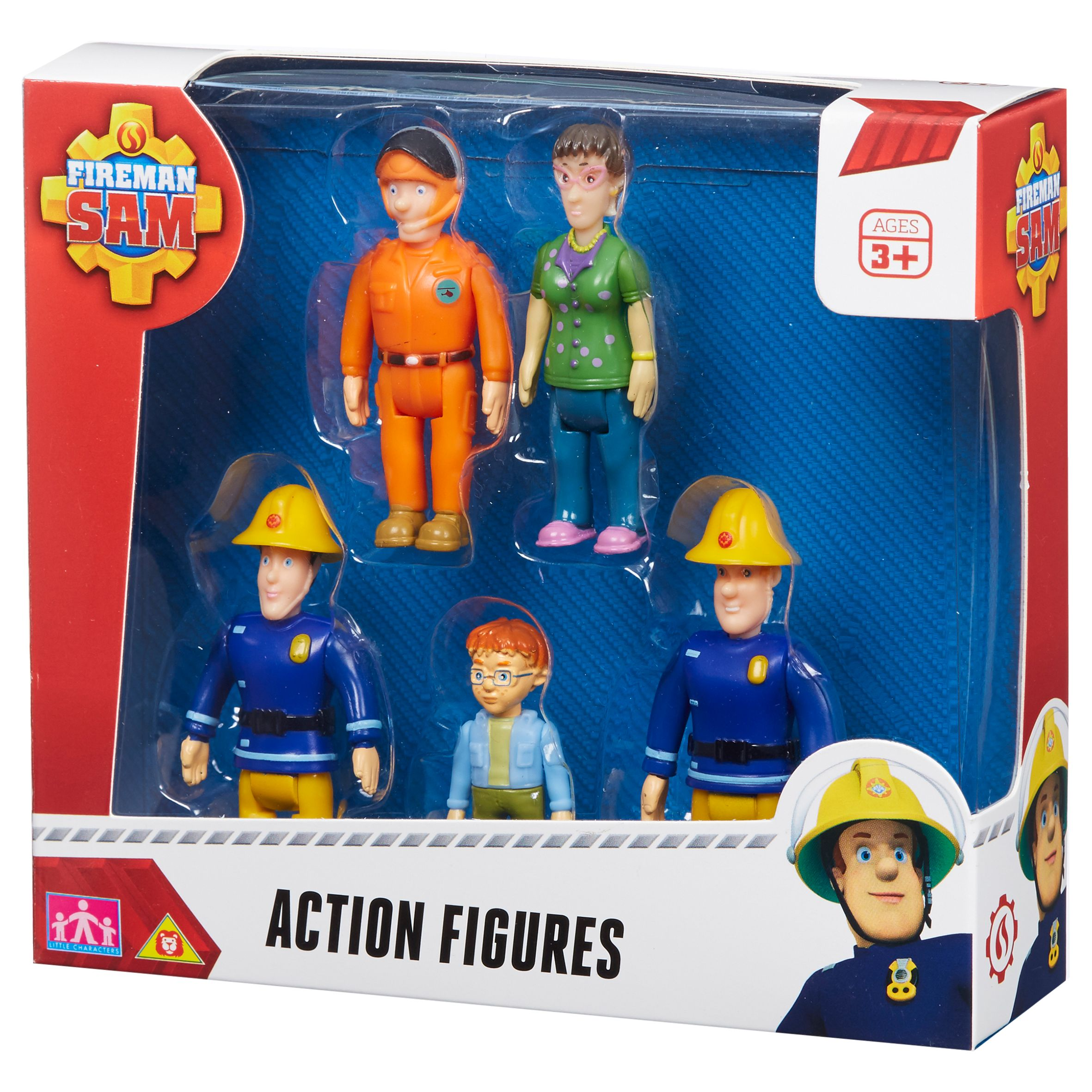Fireman Sam Action Five Figure Pack NEW