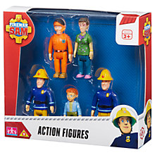 Buy Fireman Sam Action Figures, Pack of 5 Online at johnlewis.com