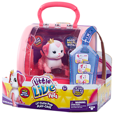 Image of Little Live Pets Lil' Cutie Pup Play-Case