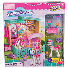 Buy Shopkins Petkins Happy Places Stable Playset Online at johnlewis.com
