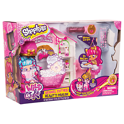 Shopkins Wild Style Kennel Cuties Beauty Parlor Playset