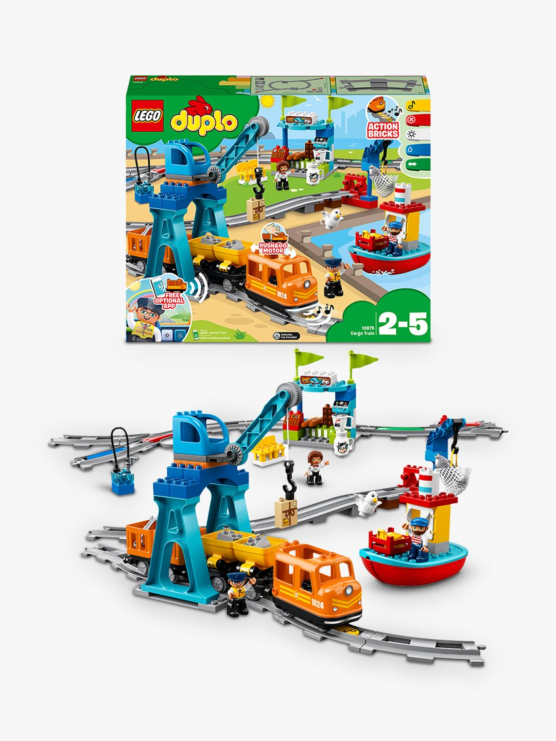 Buy LEGO DUPLO 10875 Cargo Train Online at johnlewis.com