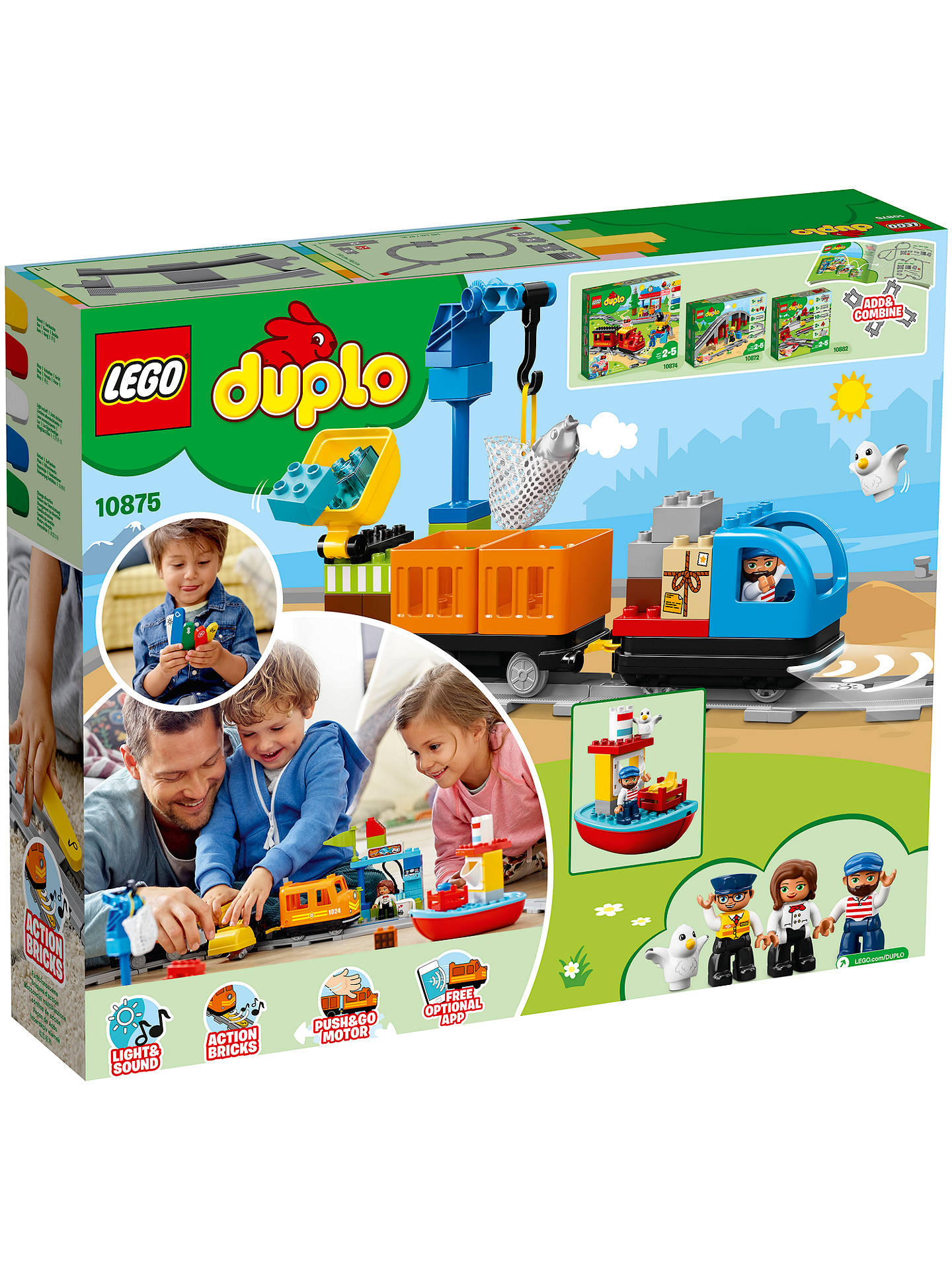 BuyLEGO DUPLO 10875 Cargo Train Online at johnlewis.com