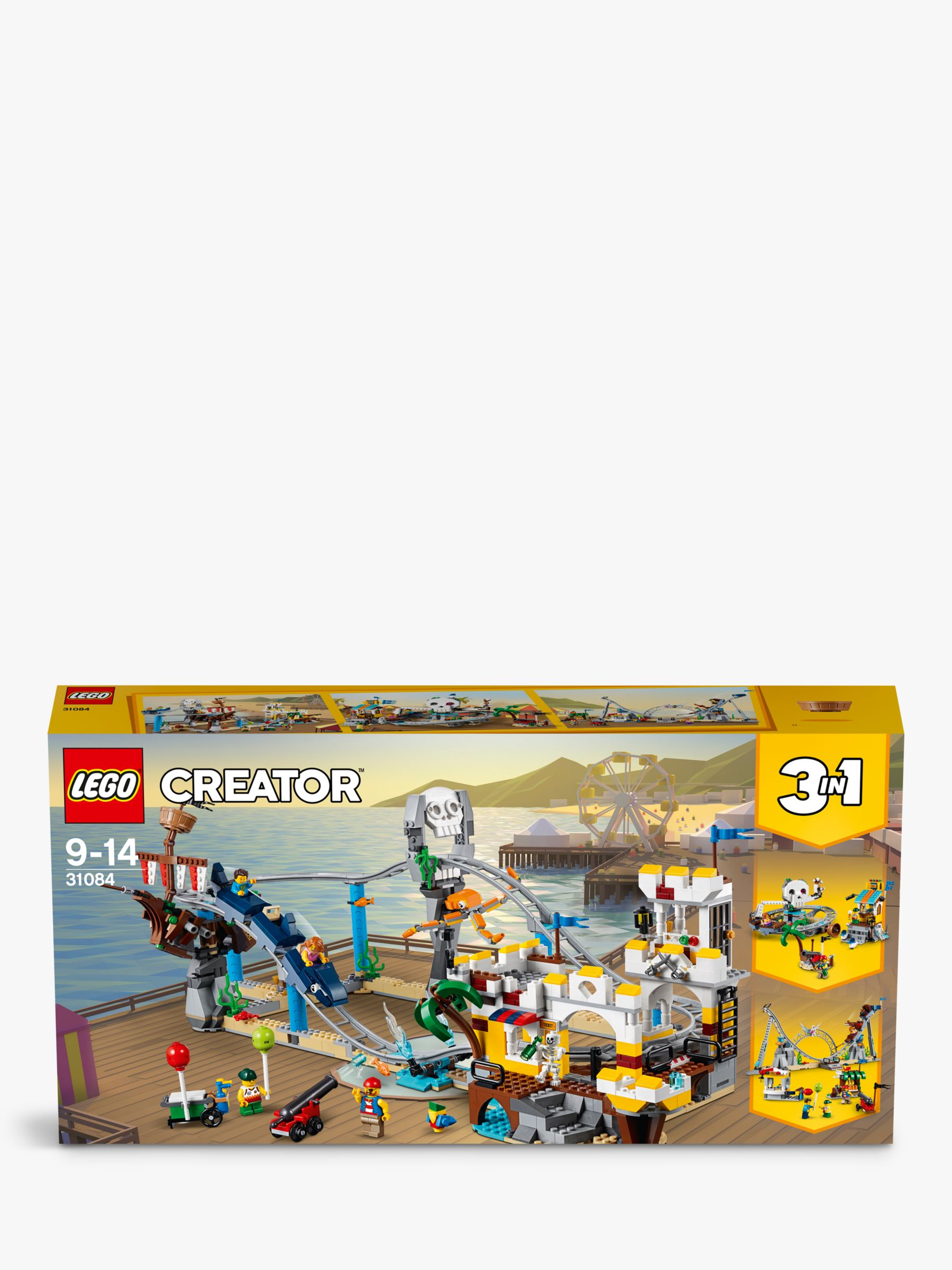 LEGO Creator 31084 3-in-1 Pirate Roller Coaster at John Lewis & Partners