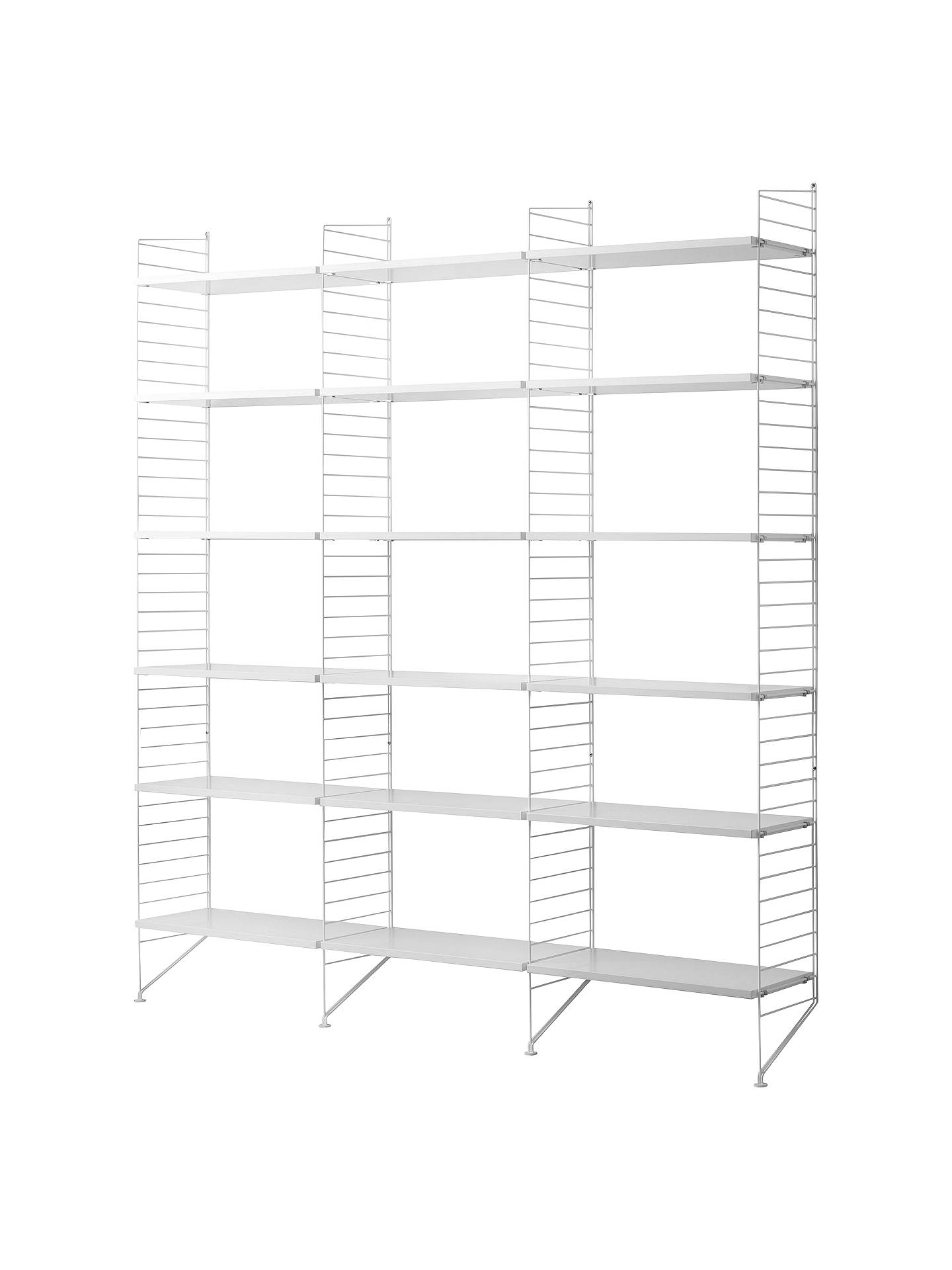 Buystring Triple Shelving Unit and Wall Fastened Side Racks, White Online at johnlewis.com