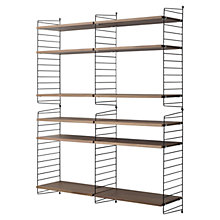 Buy string Large Shelving Unit, Wall Fastened, Walnut / Black Online at johnlewis.com