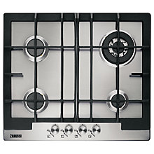 Buy Zanussi ZGX65414BA Gas Hob, Stainless Steel Online at johnlewis.com