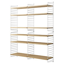 Buy string Large Shelving Unit, Wall Fastened, Oak / White Online at johnlewis.com
