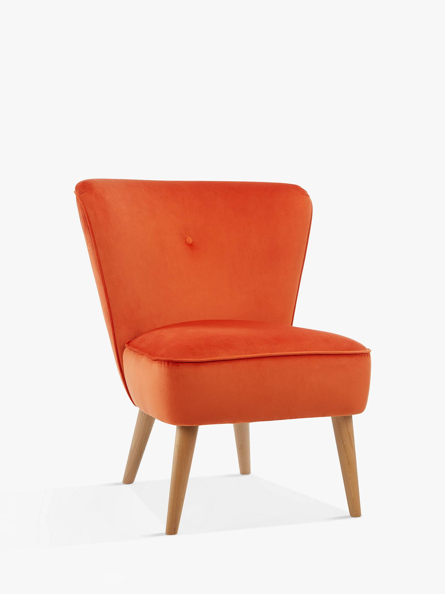 Cool John Lewis Partners Audrey Accent Chair Light Leg Velvet Orange Machost Co Dining Chair Design Ideas Machostcouk