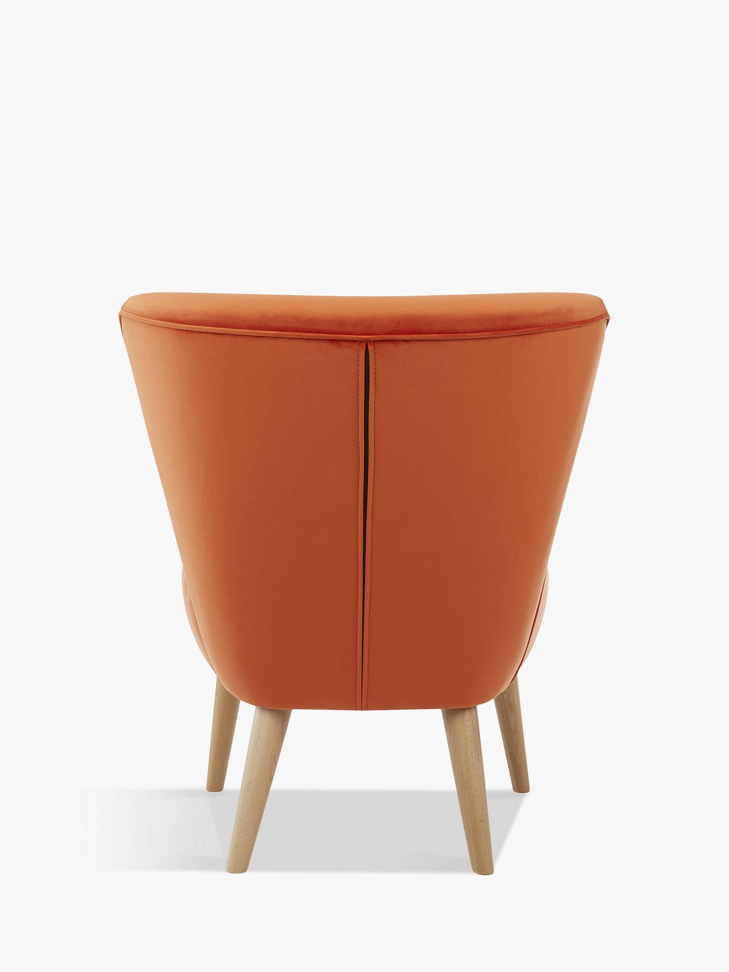 Surprising John Lewis Partners Audrey Accent Chair Light Leg Velvet Orange Machost Co Dining Chair Design Ideas Machostcouk