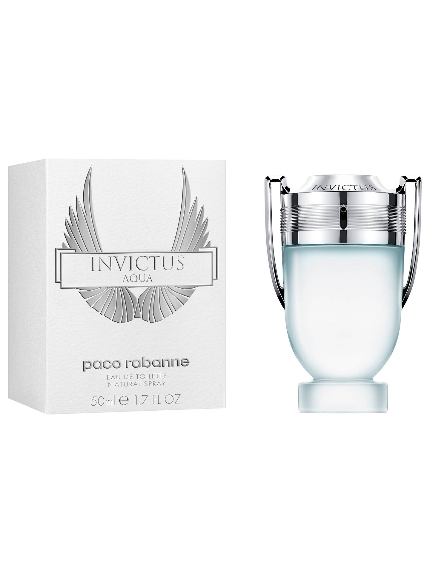 BuyPaco Rabanne Invictus Aqua Eau de Toilette, 50ml Online at johnlewis.com