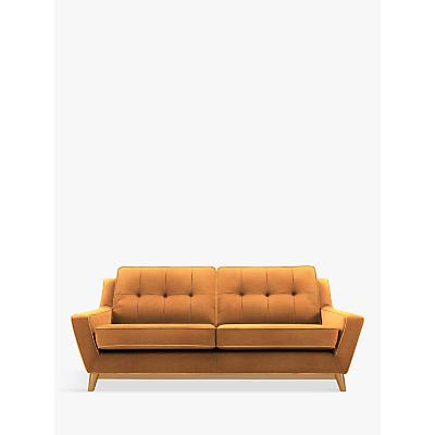 G Plan Vintage The Fifty Three Large 3 Seater Sofa, Ash Leg, Flurry Tangerine