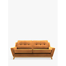 Buy G Plan Vintage The Fifty Three Large 3 Seater Sofa, Ash Leg, Flurry Tangerine Online at johnlewis.com