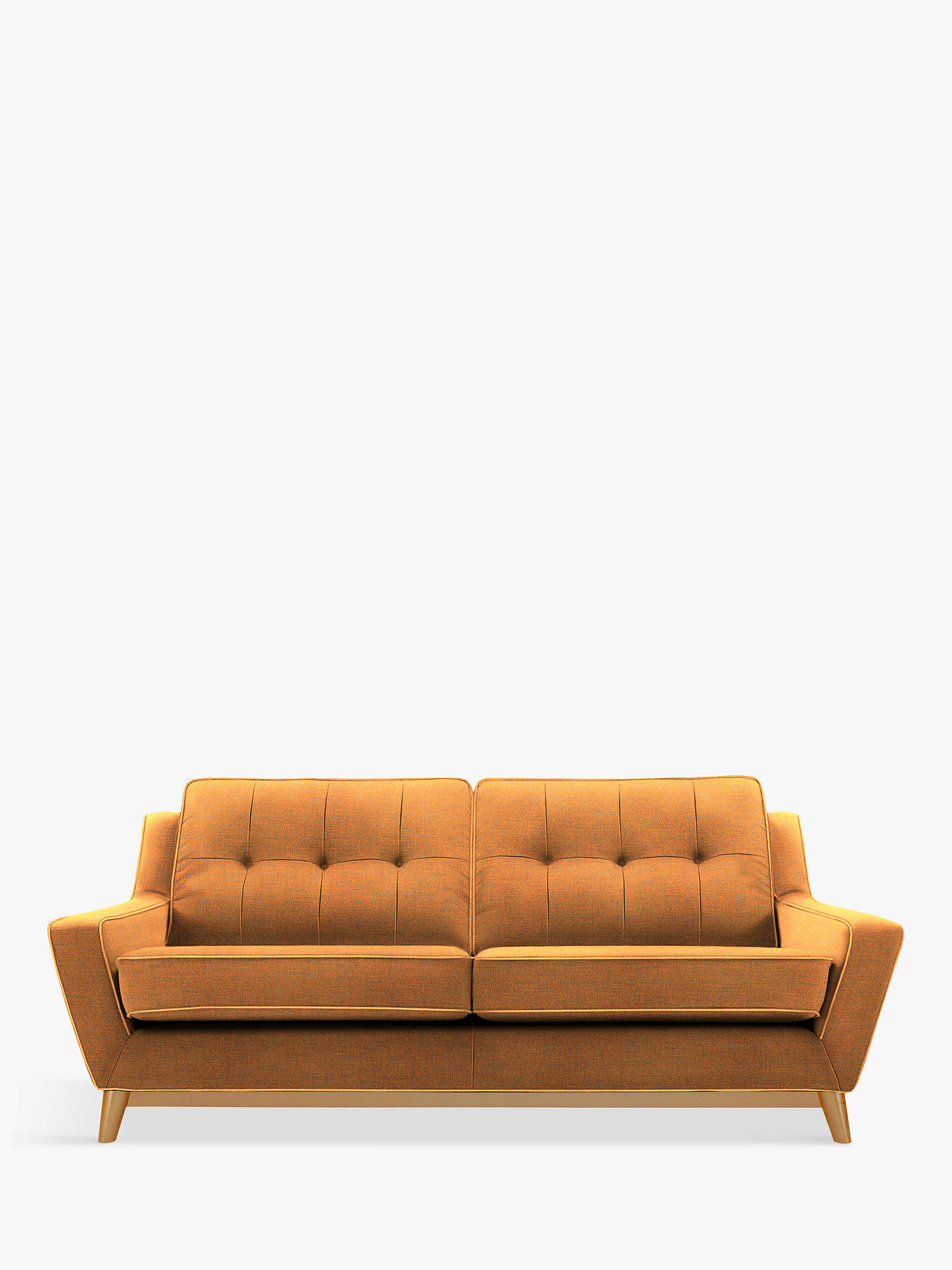 G Plan Vintage The Fifty Three Large 3 Seater Sofa Ash Leg Flurry Tangerine