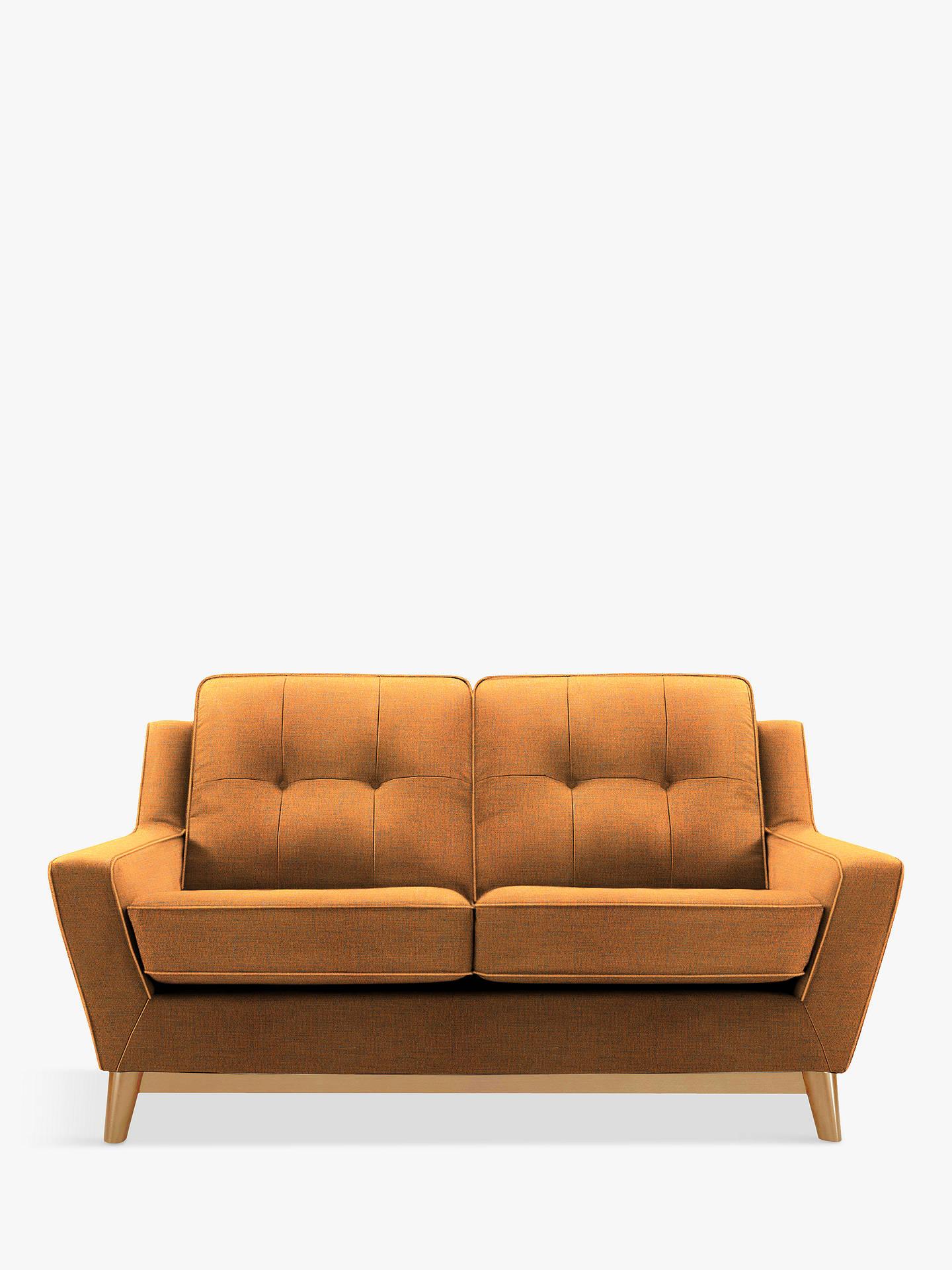 G Plan Vintage The Fifty Three Small 2 Seater Sofa Ash Leg Flurry Tangerine