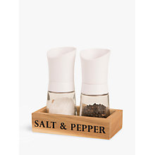 Buy T & G Manhattan Salt and Pepper Mill Set, White Online at johnlewis.com