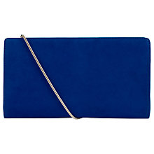 Buy Hobbs Astrid Leather Clutch Bag, Cobalt Online at johnlewis.com