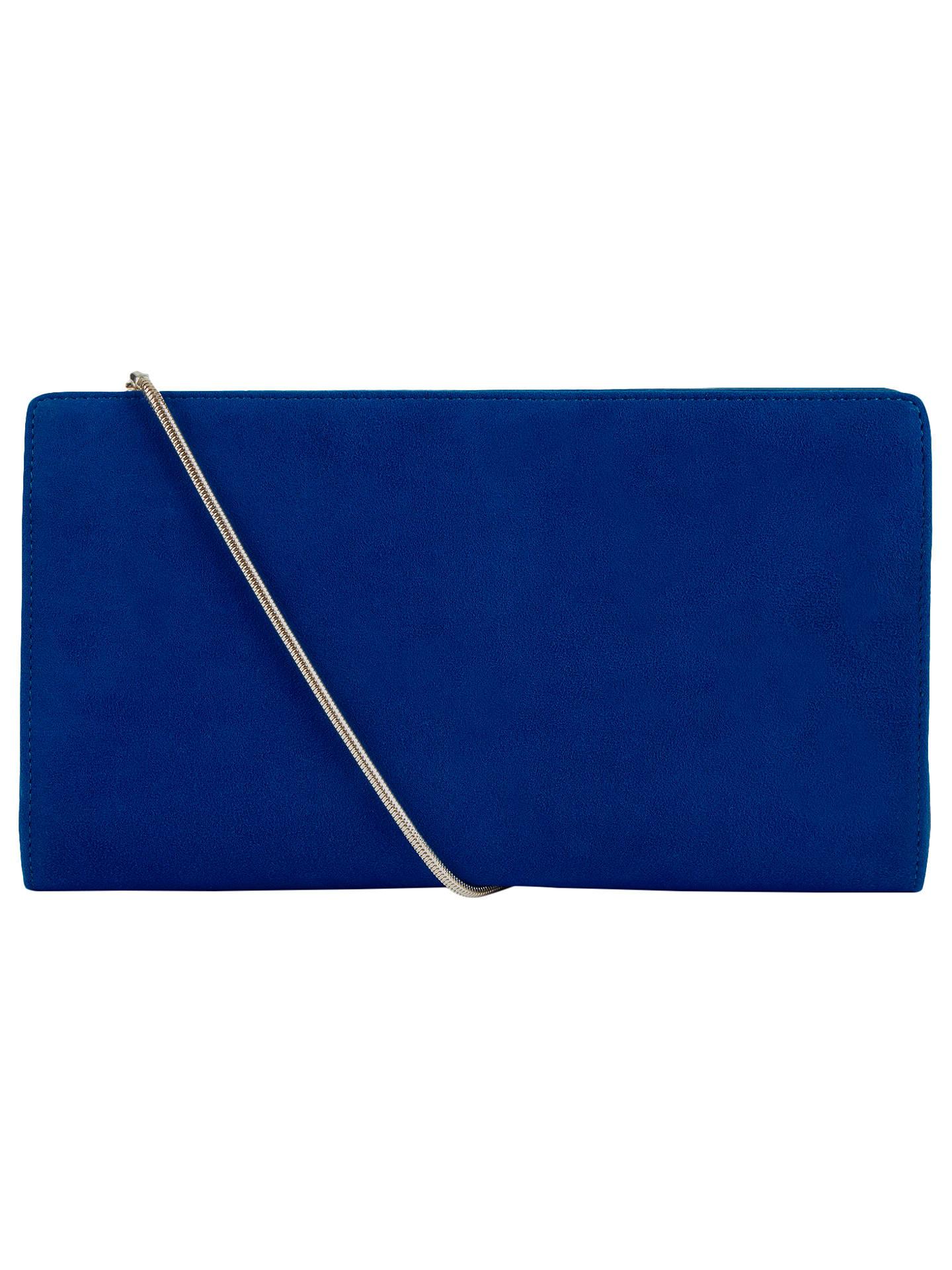Hobbs Astrid Leather Clutch Bag Cobalt Online At Johnlewis