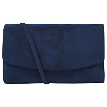 Buy Hobbs Sarah Leather Clutch, Navy Online at johnlewis.com