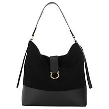 Buy Warehouse D-Ring Slouchy Tote Bag, Black Online at johnlewis.com