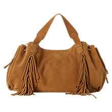 Buy Gerard Darel 24 GD Fun Suede Shoulder Bag, Camel Online at johnlewis.com