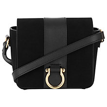 Buy Warehouse Mini D-Ring Cross Body Bag, Black Online at johnlewis.com