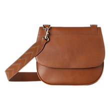 Buy Gerard Darel You Leather Satchel Bag, Camel Online at johnlewis.com