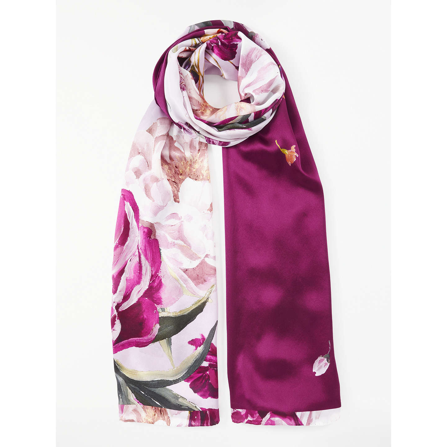 Ted Baker Floraal Serenity Long Scarf, Pink Mix by Ted Baker