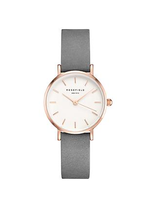 ROSEFIELD Women's The Small Edit Leather Strap Watch