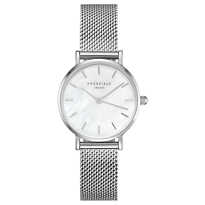 ROSEFIELD Women's The Small Edit Mesh Bracelet Strap Watch