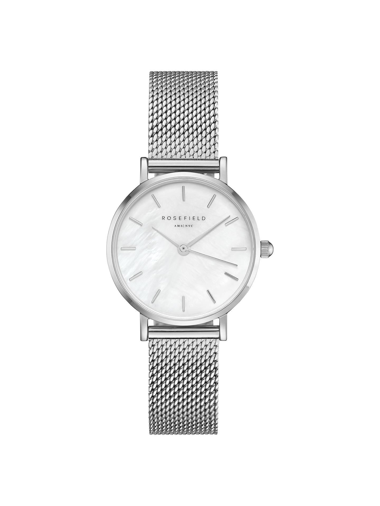 ROSEFIELD Women s The Small Edit Mesh Bracelet Strap Watch at John ... 6a77fa392ee9