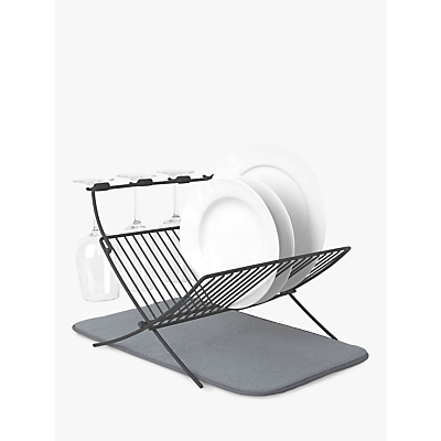Umbra X Fold Dish Rack. Grey