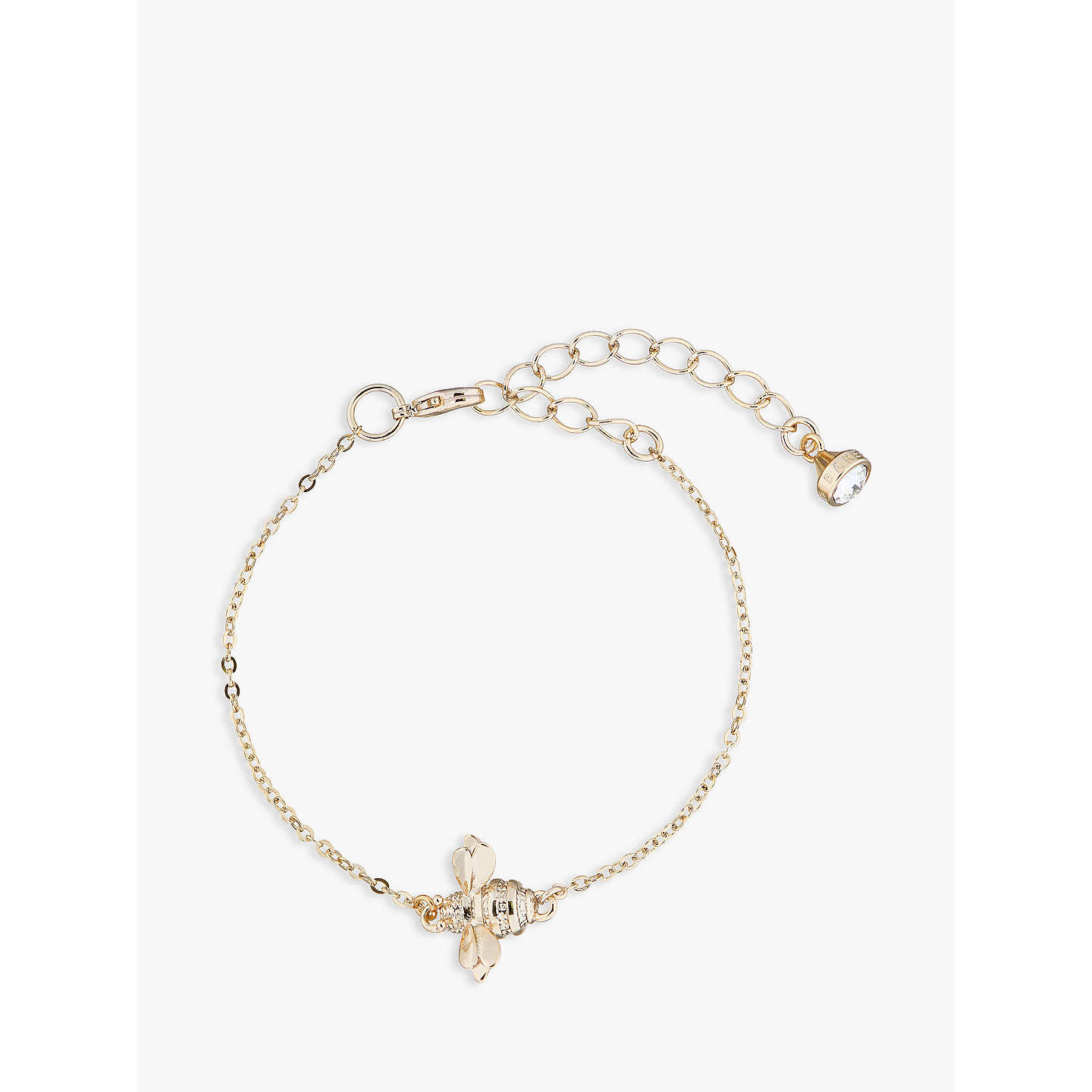 BuyTed Baker Beedina Swarovski Crystal Bumble Bee Chain Bracelet, Gold  Online At Johnlewis.com ...