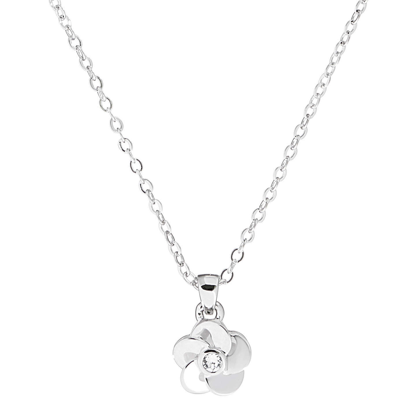 Ted baker parnela flower pendant necklace at john lewis buyted baker parnela flower pendant necklace silver online at johnlewis mozeypictures Image collections