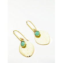 Buy John Lewis Semi-Precious Stone Hammered Disc Earrings Online at johnlewis.com
