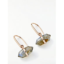 Buy John Lewis Semi-Precious Stone Bar Hook Drop Earrings Online at johnlewis.com