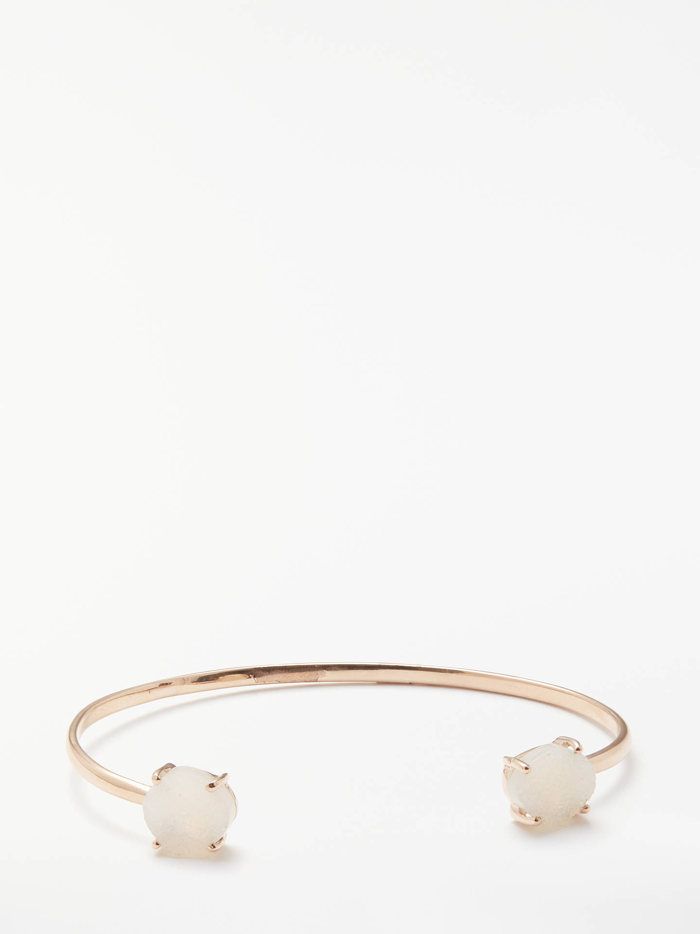 BuyJohn Lewis Gemstones Open Bangle, Rose Gold/Drusy Online at johnlewis.com