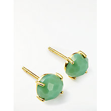 Buy John Lewis Semi-Precious Stone Round Stud Earrings, Gold/Chrysoprase Online at johnlewis.com